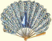 Art Nouveau peacock fan
