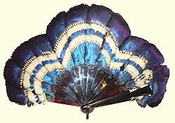 Mazura blue feather fan