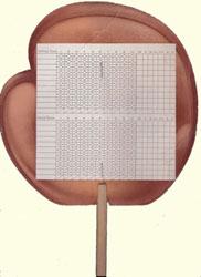Catchers mitt fixed fan